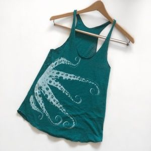 American Apparel Tentacle Teal Tank Top